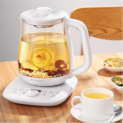 现代(HYUNDAI) 养生壶 煎药壶加厚玻璃 煮茶器 家用花茶燕窝煲茶 QC-YS1533